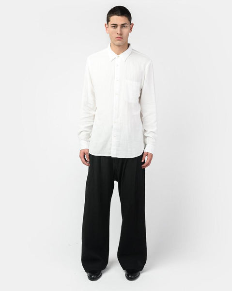 French Seam Double Gauze in White by KATO by Hiroshi Kato at Mohawk General Store