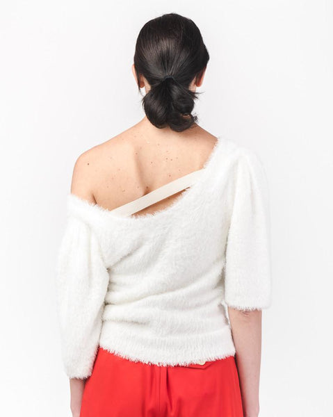 Anna So-Fluffy Pullover in Ivory by Yune Ho at Mohawk General Store