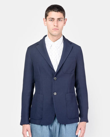 Savio Jacket in Navy by Barena at Mohawk General Store