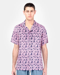 Camp Shirt in Pink Linen Floral by SMOCK Man at Mohawk General Store