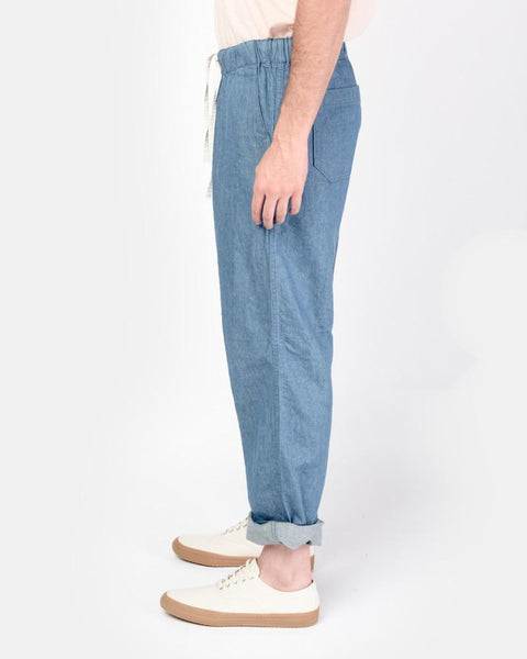 Beach Pant in Denim by SMOCK Man at Mohawk General Store
