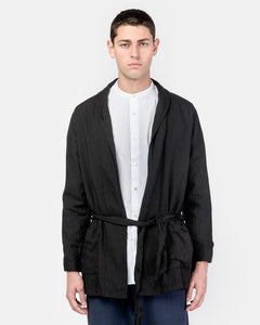 Belted Cardigan in Black by SMOCK Man at Mohawk General Store