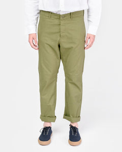 French Military Work Trouser in Olive by SMOCK Man at Mohawk General Store