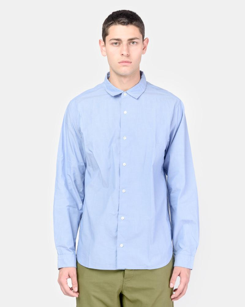 Spread Collar Shirt in Blue by SMOCK Man at Mohawk General Store