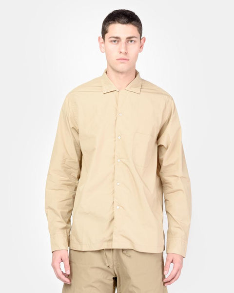 Long Sleeve Safari Shirt in Beige by SMOCK Man at Mohawk General Store