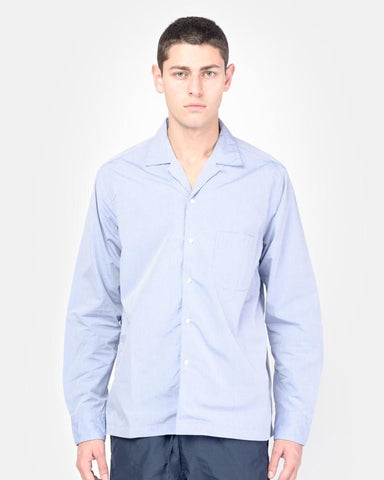 Long Sleeve Safari Shirt in Blue by SMOCK Man at Mohawk General Store