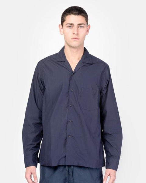 Long Sleeve Safari Shirt in Navy by SMOCK Man at Mohawk General Store