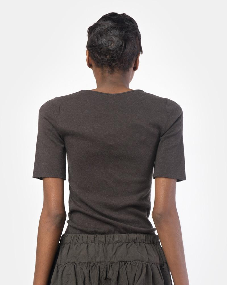 3dbe395ba75 ... Cashmere Rib Tee in Carbon by Lauren Manoogian at Mohawk General Store