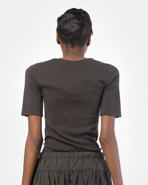 Cashmere Rib Tee in Carbon by Lauren Manoogian at Mohawk General Store