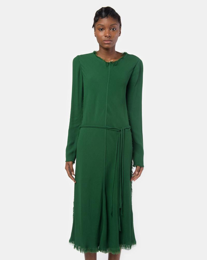 Bias Long Sleeve Dress in Emerald by Raquel Allegra at Mohawk General Store