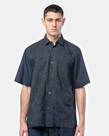 Cohen Tris Shirt in Navy by Dries Van Noten Man at Mohawk General Store