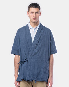 Onsen Cardigan in Blue by SMOCK Man at Mohawk General Store