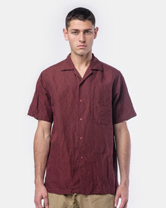 Snap-Down Shirt in Maroon by SMOCK Man at Mohawk General Store
