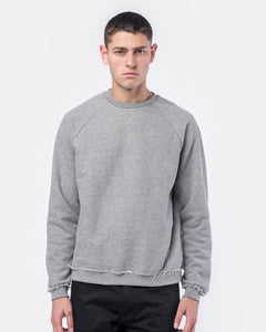 Raw Edge Raglan Crew in Dark Grey by John Elliott at Mohawk General Store