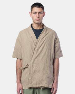 Onsen Cardigan in Beige by SMOCK Man at Mohawk General Store