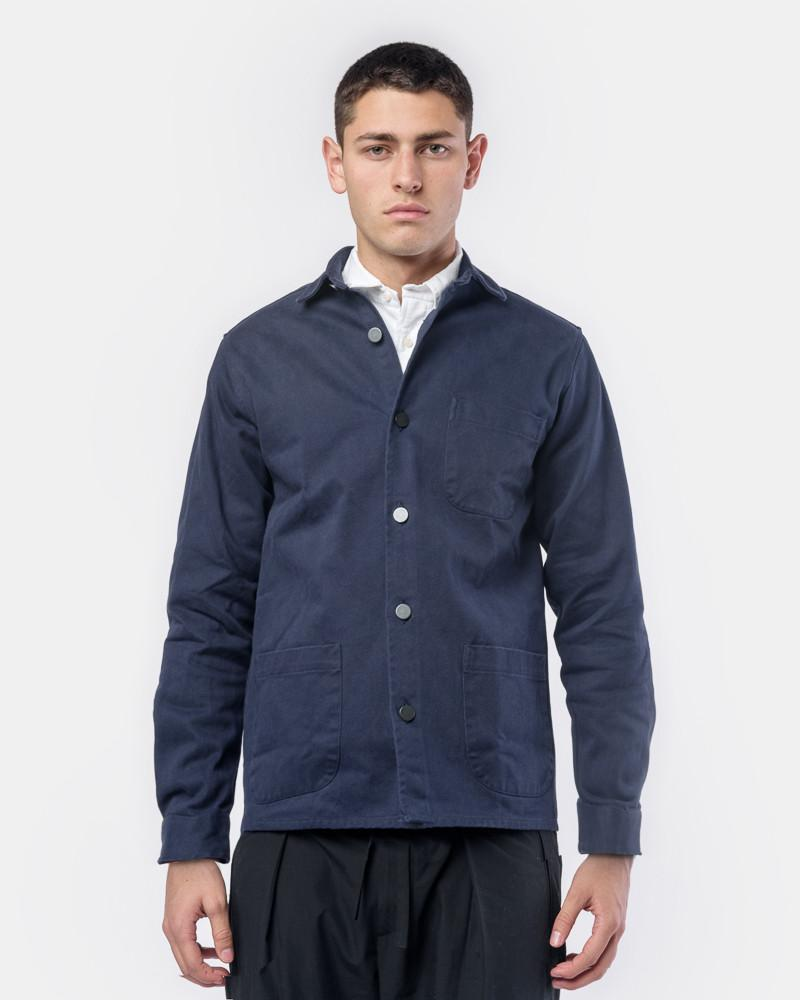 Overshirt Twill One in Navy by Schnayderman's at Mohawk General Store