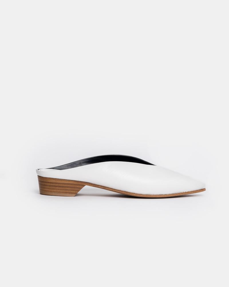 Pointy Almond Mule Heel in Bianco by Alumnae at Mohawk General Store