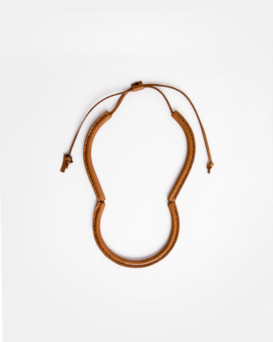 Freda Necklace in Saddle Brown by Crescioni at Mohawk General Store