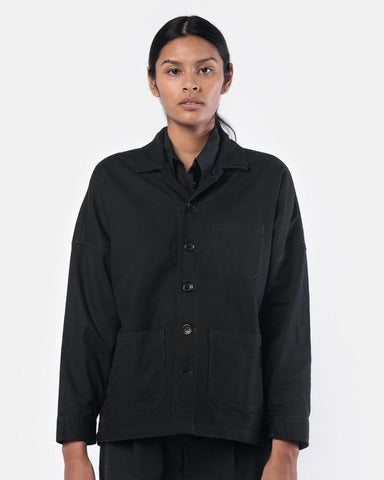 Drop Shoulder Panama Jacket in Black by SMOCK Woman at Mohawk General Store