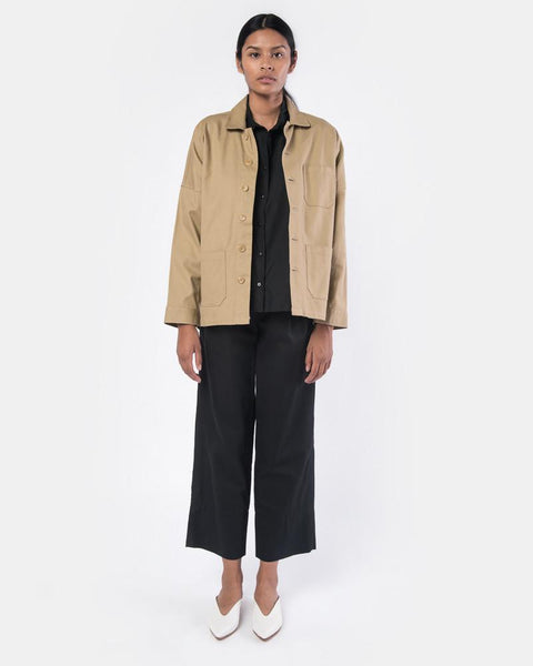 Drop Shoulder Panama Jacket in Sand by SMOCK Woman at Mohawk General Store