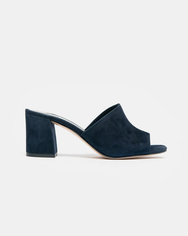 Mar Mule in Navy Suede by Maryam Nassir Zadeh at Mohawk General Store