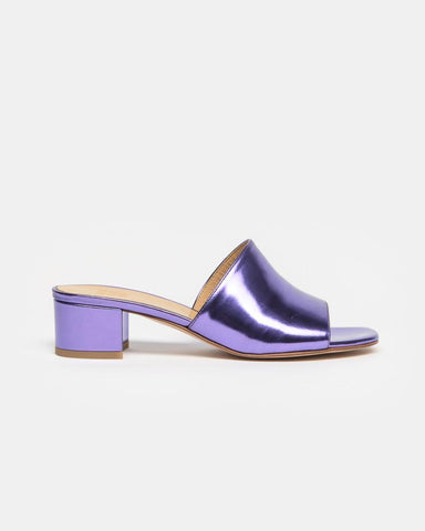 Sophie Slide in Violet Metallic by Maryam Nassir Zadeh at Mohawk General Store