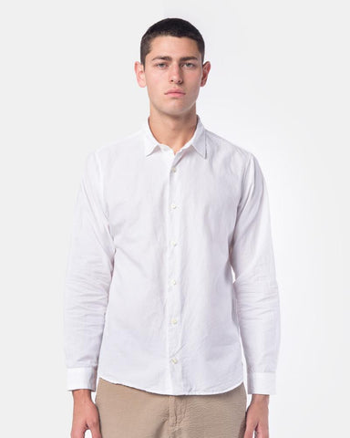 Summer Spread Collar Shirt in White by SMOCK Man at Mohawk General Store