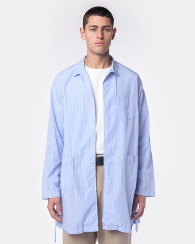 Long Shirt in Blue Graph Check by Rough & Tumble at Mohawk General Store