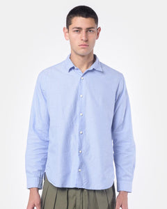 Summer Spread Collar Shirt in Blue by SMOCK Man at Mohawk General Store