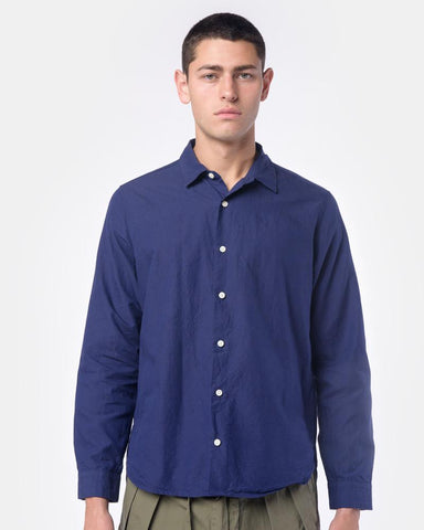 Summer Spread Collar Shirt in Navy by SMOCK Man at Mohawk General Store