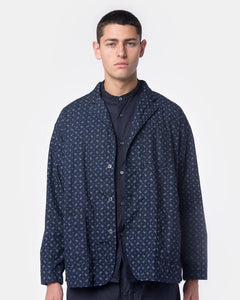 Shirt Jacket in Dark Navy Paisley by Rough & Tumble at Mohawk General Store