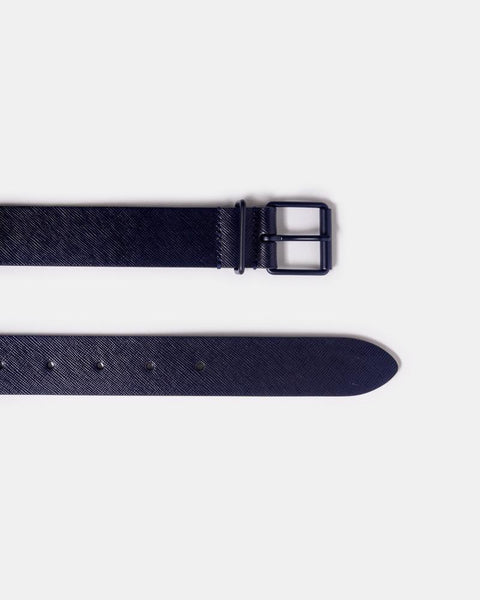 B1 Leather Belt in Dark Blue by Anderson's at Mohawk General Store