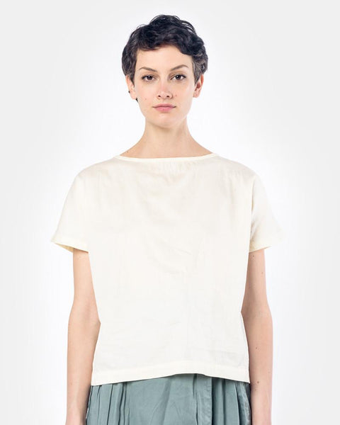 Boat Neck Top in Eggshell by Black Crane at Mohawk General Store