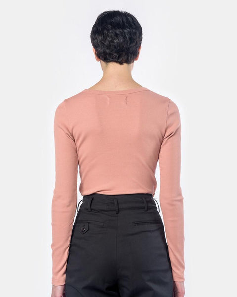 Long Sleeve Tereco Tee in Pink by SMOCK Woman at Mohawk General Store