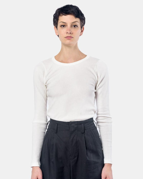 Long Sleeve Tereco Tee in White by SMOCK Woman at Mohawk General Store