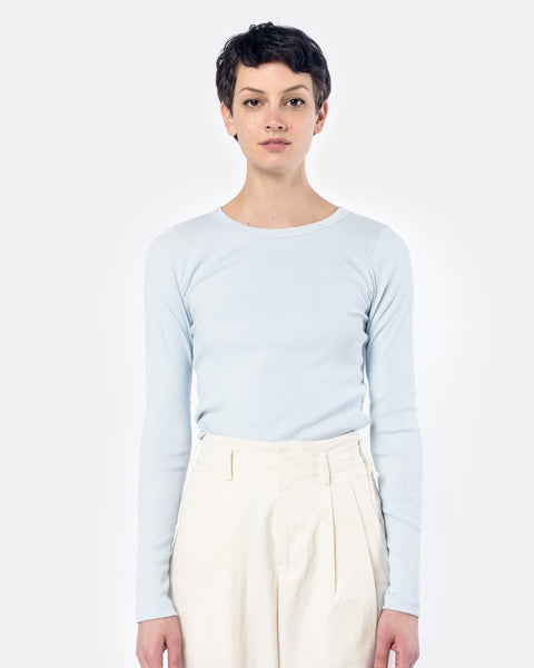Long Sleeve Tereco Tee in Light Blue by SMOCK Woman at Mohawk General Store