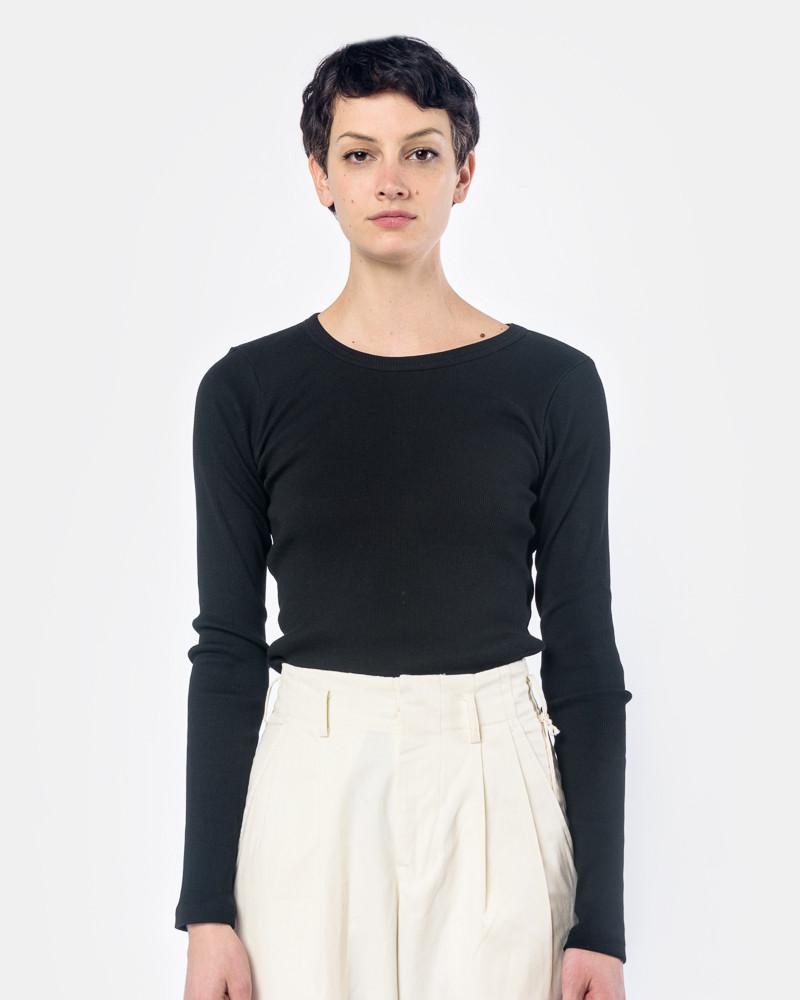 Long Sleeve Tereco Tee in Black by SMOCK Woman at Mohawk General Store