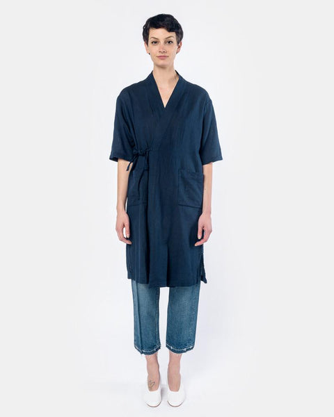 Jinbei Robe in Navy by SMOCK Woman at Mohawk General Store