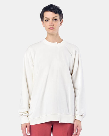 French Terry Drop Raglan Sweatshirt in White by StandAlone at Mohawk General Store