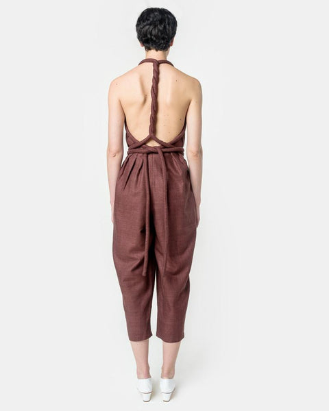 Infinite Rope Jumpsuit in Bark by Electric Feathers at Mohawk General Store