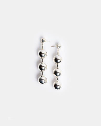 Paula Earrings in Sterling Silver by Agmes at Mohawk General Store