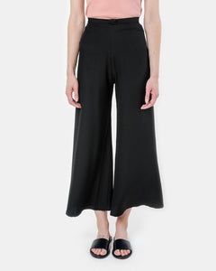Song Tu Wide Leg Silk Pants in Mulberry Black by Kaarem at Mohawk General Store