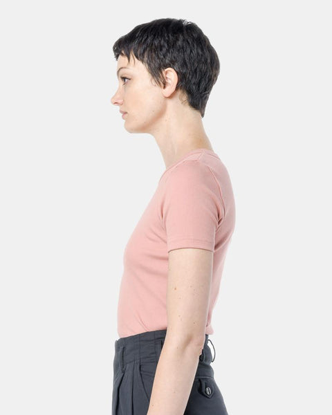 Short Sleeve Tereco Pima Tee in Pink by SMOCK Woman at Mohawk General Store