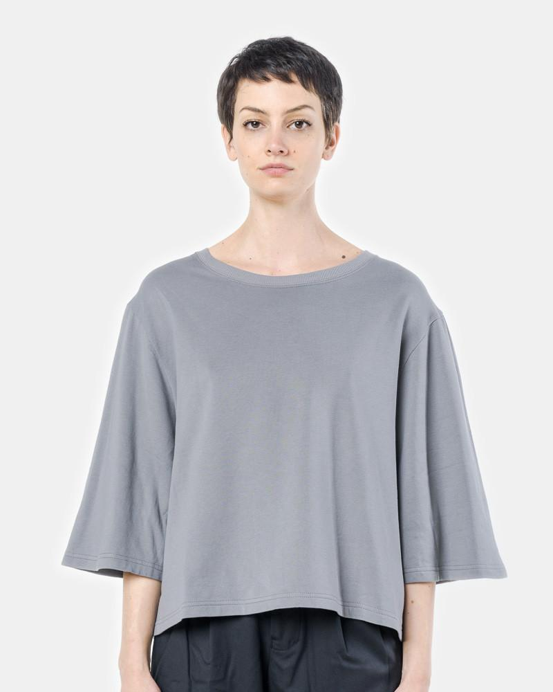 Wide Sleeve Top in Grey by SMOCK Woman at Mohawk General Store