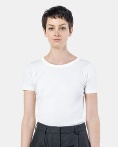 Short Sleeve Tereco Pima Tee in White by SMOCK Woman at Mohawk General Store