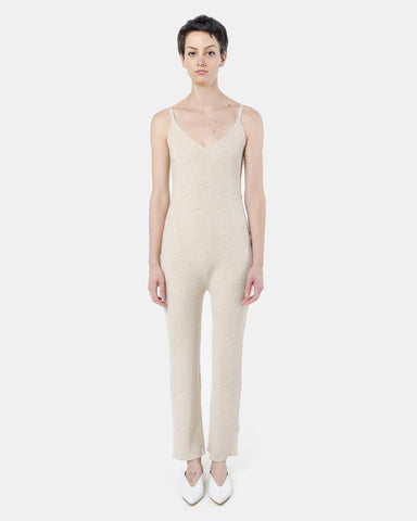 Ribbed Jumpsuit in Oatmeal by Ryan Roche at Mohawk General Store