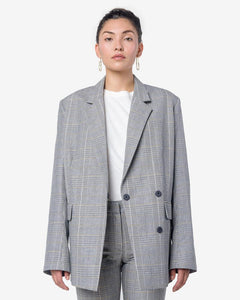 Loft Blazer in Yellow Check by Hope at Mohawk General Store
