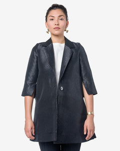 Ann Coat in Black Silk by Henrik Vibskov at Mohawk General Store
