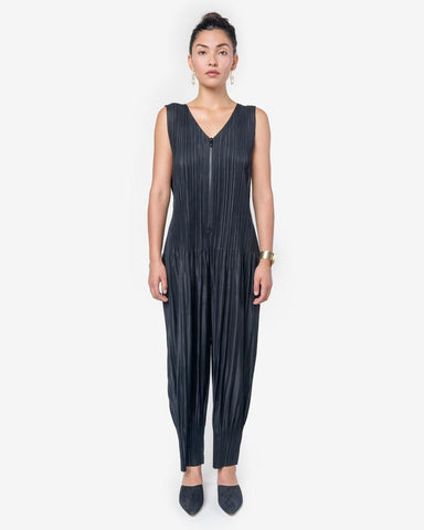 JI404 Jumpsuit in Black by Issey Miyake Pleats Please at Mohawk General Store