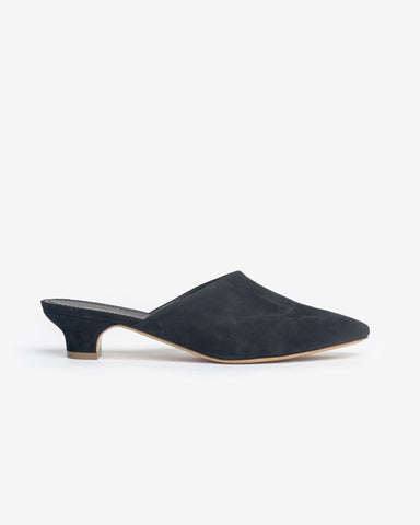 Elegant Slide in Black Suede by Mansur Gavriel at Mohawk General Store